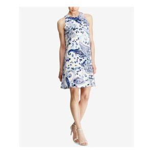 RALPH LAUREN  Blue Paisley Sleeveless dress size 4